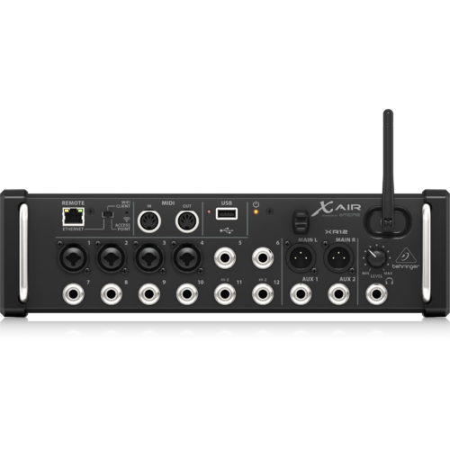 BEHRINGER X AIR XR12 12-Channel Digital Mixer for use with Ipad