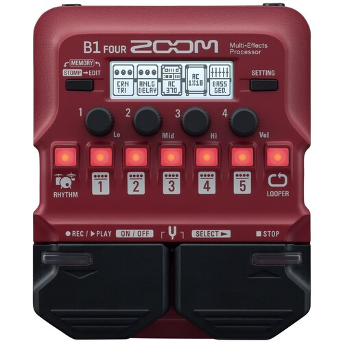 ZOOM B1 FOUR Bass Guitar Effects Pedal