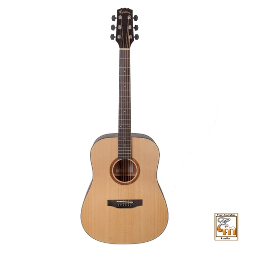 MARTINEZ NATURAL SERIES Dreadnought Size Guitar Left Hand with Pickup Spruce Top MND-15L-SOP