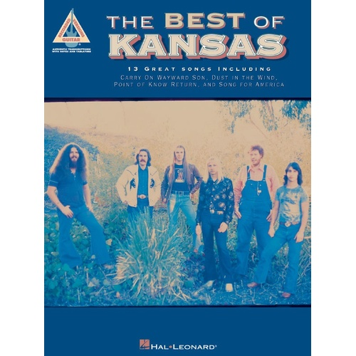 KANSAS THE BEST OF Guitar Recorded Versions NOTES & TAB