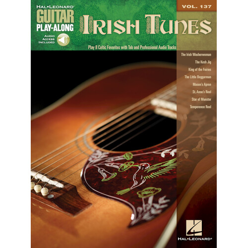 IRISH TUNES Guitar Playalong Book with Online Audio Access and TAB Volume 137