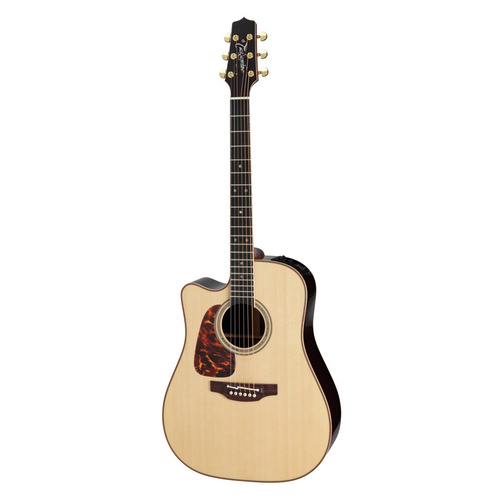 TAKAMINE P7DCLH 6 String Left Hand Acoustic/Electric Guitar with Cutaway in Natural TP7DCLH